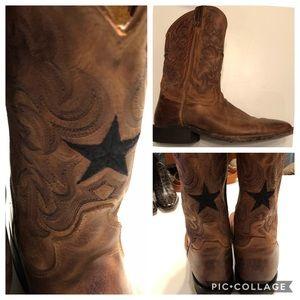 Tony Lama square toe western boots